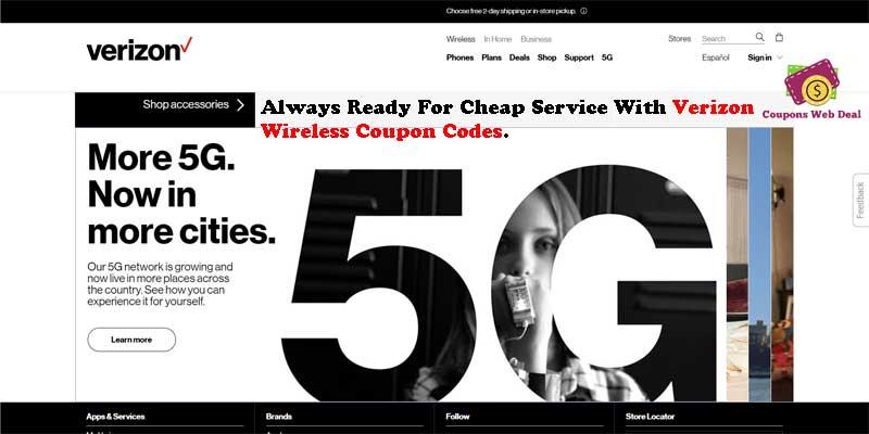 Verizon Wireless Coupon Codes