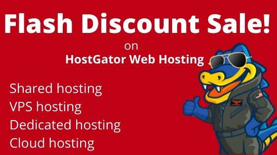 HostGator Flash Discount Sale