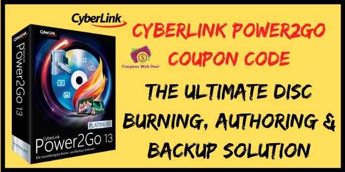 Cyberlink Power2go Coupon