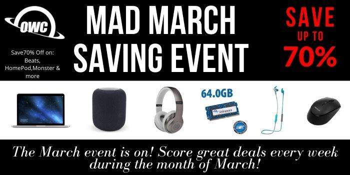 OWC Mad March saving offer