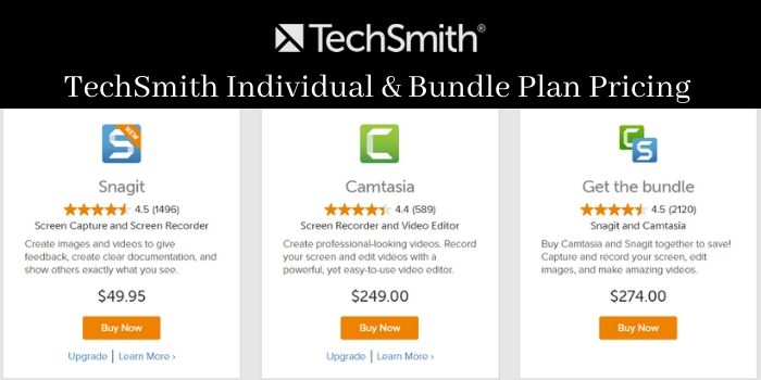 Techsmith individual plan and pricing
