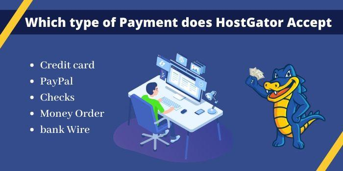 payment Method HostGator accept