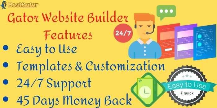 Hostgator Website Builder Features