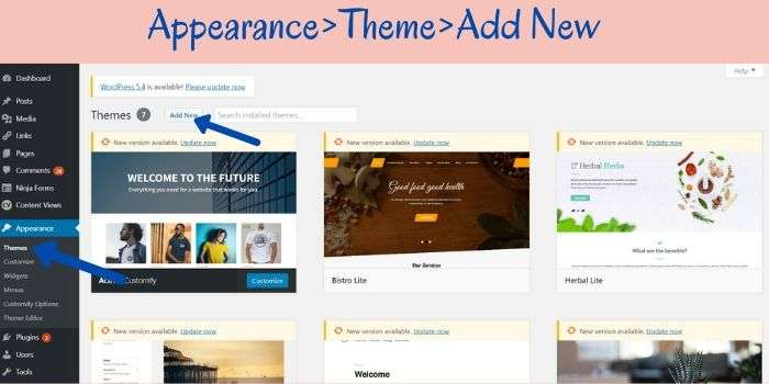 Add WordPress Theme