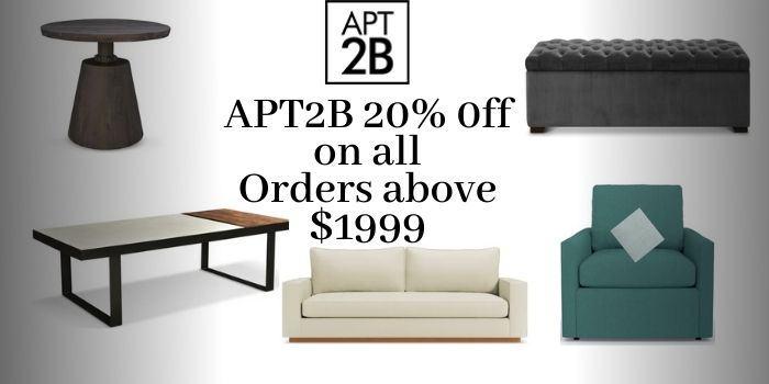 APT2B 20% off Coupon Code