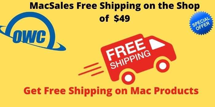 MacSales Free Shipping