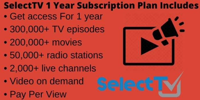 SelectTV 1 Year Subscription