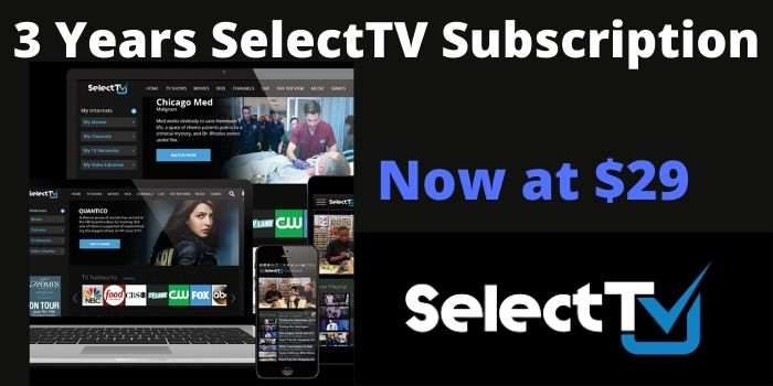 SelectTV 3 Years Subscription