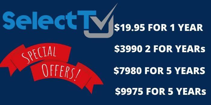 SelectTV Coupon
