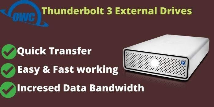 MacSales Thunderbolt 3 external drives