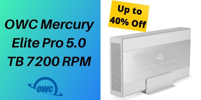 Up to 40% Off OWC Mercury Elite Pro 5.0 TB 7200 RPM