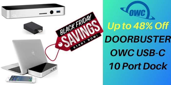 Up to 48% Off DOORBUSTER OWC USB-C 10 Port Dock