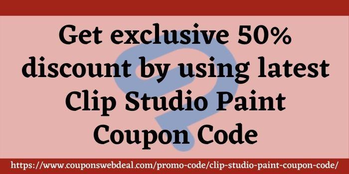 Clip Studio Paint Coupon Code www.couponswebdeal.com