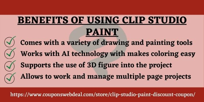 Clip studio Paint discount code www.couponswebdeal.com