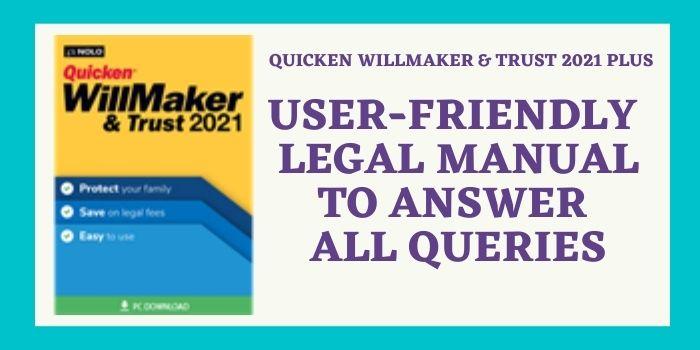 Quicken willmaker & trust 2021 Plus