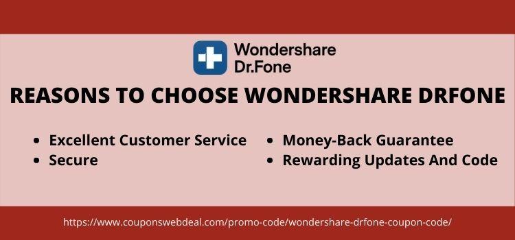 reasons to choose wondershare drfone