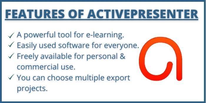 Features of Active Presenter